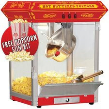 <strong>Funtime Popcorn Machines</strong> 8 oz. Countertop Sideshow Hot Oil Kettle Popcorn Machine