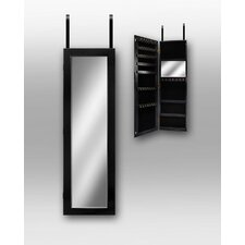 Over the Door Jewlery Armoire in Black