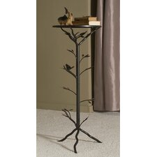 <strong>Dalton Home Collection</strong> Large Glass Bird Table with Removable Glass Top