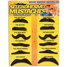 Fake Mustaches (Set of 12)