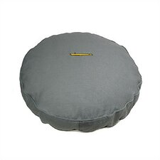 Smoky Blue Corduroy and Sherpa Round Pet Bed