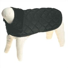 Quilted Nylon Dog Jacket in Black