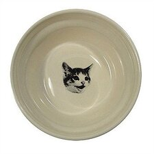 Ridged Happy Cat Bowl