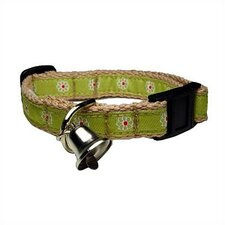 <strong>George SF</strong> Green Flower Cotton Kitty Collar