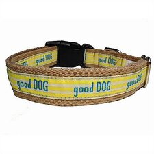 """Good Dog"" Cotton Tiny Dog Collar"