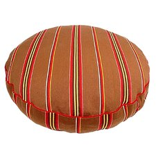 <strong>George SF</strong> Brown Ticking Stripe Round Dog Pillow