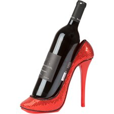 Sequin Print High Heel Wine Bottle Holder