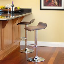 "<strong>RST Living</strong> Klein 22"" Adjustable Swivel Bar Stool with Cushion (Set of 2)"
