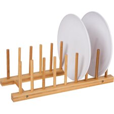 Natural Bamboo Plate Holder