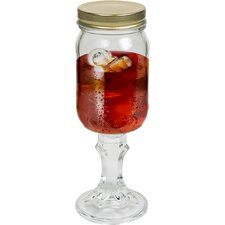Mason Jar Wine Glass by EZ Drinker (Set of 4)