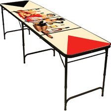 """96"""" Pin Up Girls Vintage Beer Pong Table"""