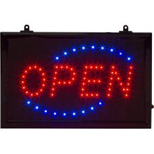 "18"" x 10"" Open LED Business Sign and Light with Hanging Chain"