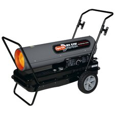 Portable 210,000-BTU Multi-Fuel Forced Air Heater with Built in Diagnostic and Flat-Free Wheels