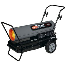 Portable 170,000-BTU Multi-Fuel Forced Air Heater with Built-in Diagnostic and Flat-Free Wheels