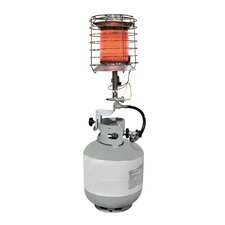Propane Powered 40,000-BTU 360-Degree Tank Top Radiant Heater with Tip Over Safety Switch