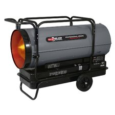 Portable 650,000 BTU Multi-Fuel Forced Air Heater with Built in Diagnostic and Flat-Free Wheels