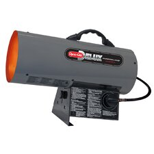 Portable 40,000-BTU Propane Powered Forced Air Heater with Continuous Electronic Ignition
