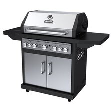 Propane Gas Grill with Side Burner & Rotisserie Burner