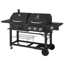 3 Burner Gas Grill with Side Burner