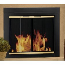Arrington Fireplace Screen and Bi-Fold Track-Free Glass Door