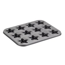Novelty 12-Cup Star Molded Cookie Pan