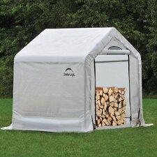 """3'5"""" W x 5' D Polyethylene Firewood Storage Shed"""