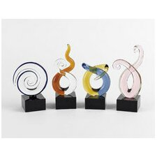 4 Piece Mini Swirl Centerpiece Figurine