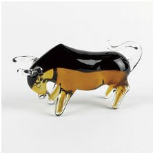<strong>Badash Crystal</strong> Art Glass Bull Sculpture