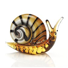 Art Glass Snail Sculpture