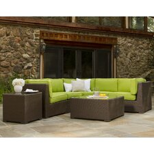 Jupiter 5 Piece Sectional Seating Group with Cushions