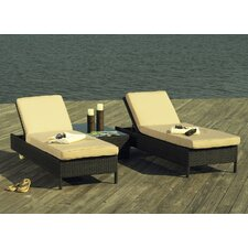<strong>ElanaMar Designs</strong> Captiva Chaise Lounge with Cushion