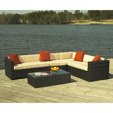 <strong>ElanaMar Designs</strong> Captiva 4 Piece Sectional Seating Group with Cushions