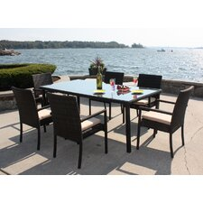 Captiva 7 Piece Dining Set with Cushions