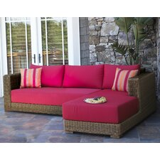 <strong>ElanaMar Designs</strong> Grand Cayman Wicker 2 Pieces Chaise Sectional