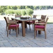 Grand Cayman 7 Piece Dining Set with Cushions