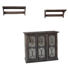 Durian 3 Piece Cabinet and Racks Set