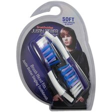 Justin Bieber Singing Toothbrush Replacement Brush Heads (Pack of 2)