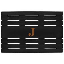 <strong>Creative Accents</strong> Teak Personalized Monogrammed Doormat