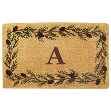Evergreen Border Personalized Monogrammed Doormat