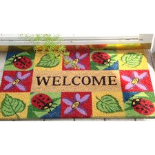 SuperScraper Ladybug Welcome Doormat