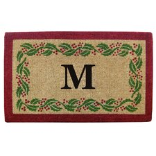 Holly Ivy Border Personalized Monogrammed Doormat