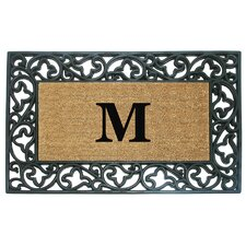 <strong>Creative Accents</strong> Acanthus Border Personalized Monogrammed Doormat