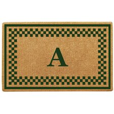 <strong>Creative Accents</strong> Checker Border Personalized Monogrammed Doormat