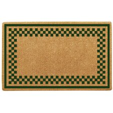 <strong>Creative Accents</strong> Checker Border Doormat