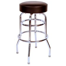 Retro Home Double Ring Backless Swivel Bar Stool