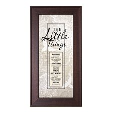 Marriage - Little Things Framed Wall Art