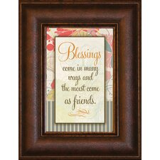 <strong>The James Lawrence Company</strong> Blessings Come Mini Framed Wall Art
