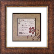 <strong>The James Lawrence Company</strong> Delight Yourself Glass Matted Framed Plaque