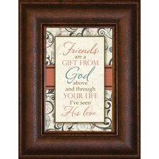 <strong>The James Lawrence Company</strong> Friends are a Gift Mini Framed Wall Art