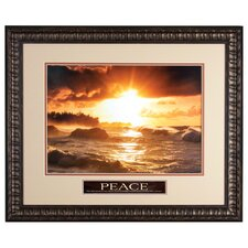 Sunset Waves Framed Wall Art